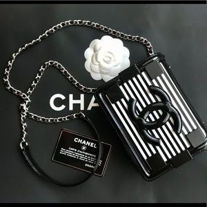 Chanel LEGO black and white bag